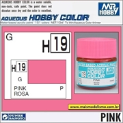 Tinta Gunze Acrílica H 19 ROSA Brilho - Mr Hobby - 10ml