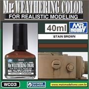 Mr Weathering Color WC003  STAIN BROWN - Mr Hobby - 40ml