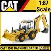CAT - Trator RETROESCAVADEIRA CAT 450E BACKHOE LOADER - Norscot - 1/87