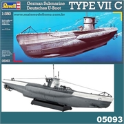 Submarino GERMAN U-BOOT TYPE VII C - Revell - 1/350
