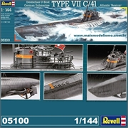 Submarino GERMAN TYPE VII C/41 - Revell - 1/144