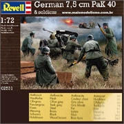 WWII German 7,5 cm PaK 40 and Soldiers - Revell - 1/72