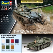 T-55A/AM with KMT-6 / EMT-5 - Revell - 1/72