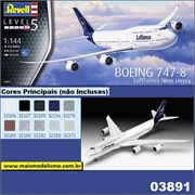BOEING 747-8 Lufthansa New Livery - Revell - 1/144