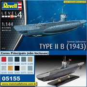 Submarino German TYPE II B (1943) - Revell - 1/144