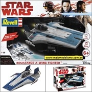 STAR WARS - Resistance A-Wing Fighter Azul - Revell - 1/44