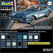 1958 - Chevy Corvette Roadster - Revell - 1/25