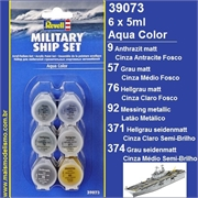 Conj Tintas Acrílicas - MILITARY SHIP SET - Revell