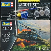 Helicóptero UH-60A Blackhawk - Model-Set Revell - 1/100