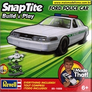 Ford POLICE CAR Branco - Snap-Tite Revell - 1/25