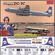 Douglas DC-7C KLM Royal Dutch Airlines - Roden - 1/144