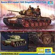 Russia KV-1 model 1942 Simplified Turret Tank - Trumpeter - 1/35