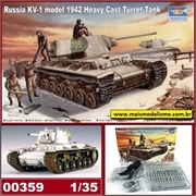 Russia KV-1 model 1942 Heavy Cast Turret Tank - Trumpeter - 1/35