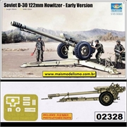 Soviet D-30 122mm HOWITZER - Early Version - Trumpeter - 1/35