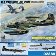 A-37B Dragonfly Light Ground-Attack Aircraft - Trumpeter - 1/48