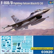 F-16B/D Fighting Falcon Block 15/30 - Trumpeter - 1/144
