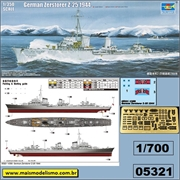German Zerstorer (Destroyer) Z-25 1944 - Trumpeter - 1/700