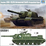Soviet JSU-152K Armored Self Propelled Gun - Trumpeter - 1/35