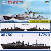Destroyer HMS ZULU 1941 - Trumpeter - 1/700