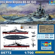 USS West Virginia BB-48 (1945) - Trumpeter - 1/700