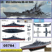 USS California BB-44 (1945) - Trumpeter - 1/700