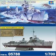 German Zerstorer (Destroyer) Z-30 1942 - Trumpeter - 1/700