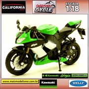 Kawasaki Ninja ZX 10 R - Welly California Cycle - 1/18