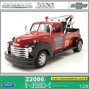 1953 - Chevrolet TOW TRUCK Paralama Preto - Welly - 1/24