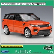 Land Rover Range Rover Sport Laranja - Welly - 1/24
