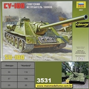 Soviet Su-100 Self Propelled Gun - Zvezda - 1/35