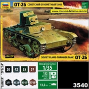 Soviet Flame-Thrower Tank OT-26 - Zvezda - 1/35