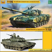 Russian Main Battle Tank with Era T-72B - Zvezda - 1/35